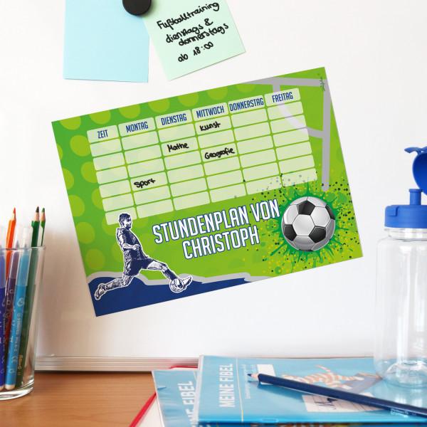 Magnetischer Stundenplan für kleine Fußballer