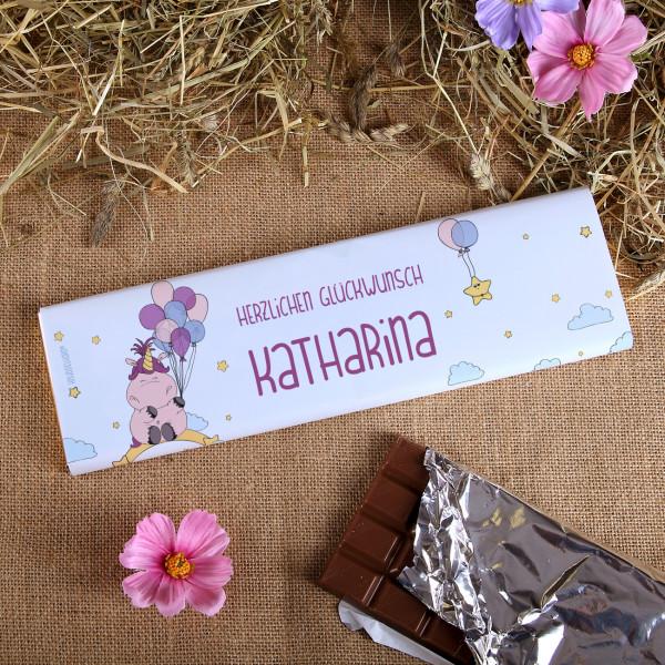 Riesige Schokolade mit bedruckter Banderole